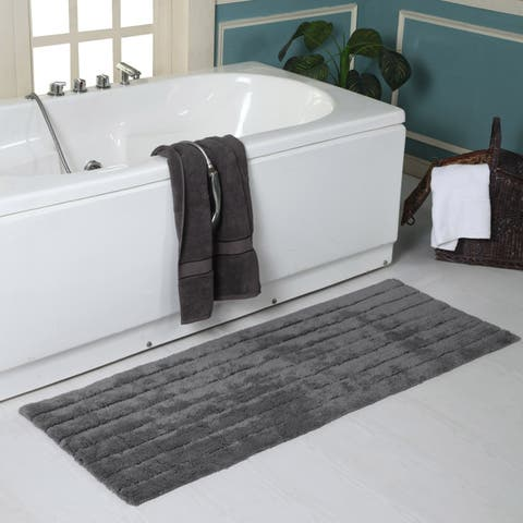 "Eco-Friendly Cotton Soft and Absorbent 22"" x 60"" Bath Rug - 22 x 60"