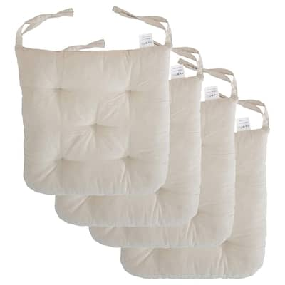 """Cottone 100% Cotton Chair Pads w/Ties (Set of 4)