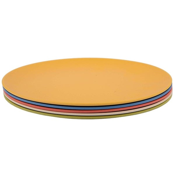 Melange 6-Piece Bamboo Salad Plate Set (Rounds Collection), Color: Multicolor. Opens flyout.
