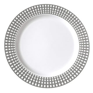 Link to Table To Go I Can't Believe it's Plastic 50-Piece Plastic Salad Plate Set , Venice Collection , (Silver Ivory) Similar Items in Dinnerware