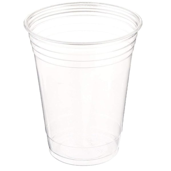 Table To Go Disposable Clear Plastic Cups (100 Pack/ 16 oz) , Crack-Resistant Drinking Glasses , 100% BPA-Free ,
