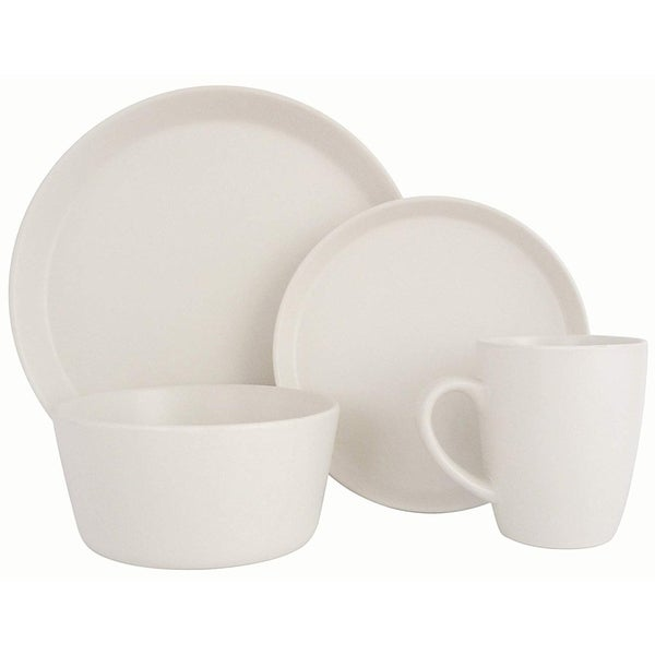 Dishwasher & Oven Safe Melange Stoneware 36-Piece Dinnerware