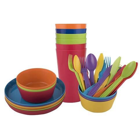 Baby Kin 36 Piece Premium Round Dinnerware Set
