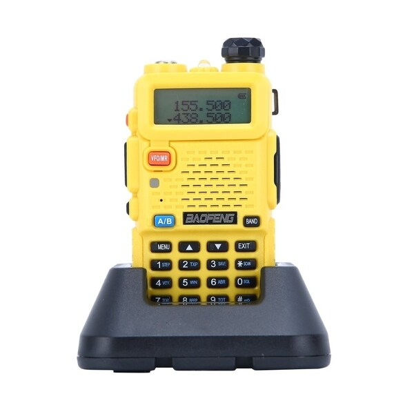 400~470MHz Dual Band Walkie Talkie with 1-LED Flashlight Includes 1800mah Rechargeable Battery BaoFeng 6 Pack BF-UV5R 1.5 LCD 5W 136~174MHz