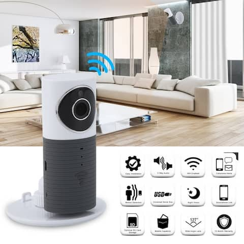 Wifi Video Baby Monitor 2 Way Speaker 120 Degree 960P Audio Network Webcam - Grey/White