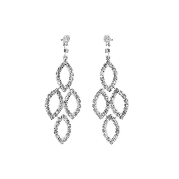 357c26adb Shop Silver Crystal Diamond Leaf Chandelier Earrings for Women - Free  Shipping On Orders Over $45 - Overstock - 27282611