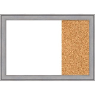 Graywash Wood Framed White Dry Erase/Cork Combo Board