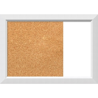 Blanco White Wood Framed Cork/White Dry Erase Combo Board
