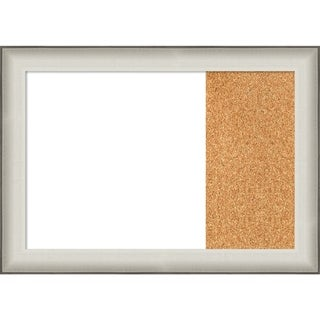Allure White Wood Framed White Dry Erase/Cork Combo Board