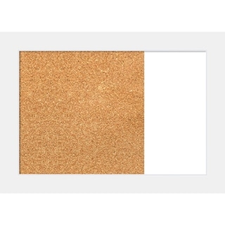 Corvino White Wood Framed Cork/White Dry Erase Combo Board