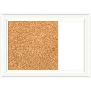 Craftsman White Wood Framed Cork/White Dry Erase Combo Board