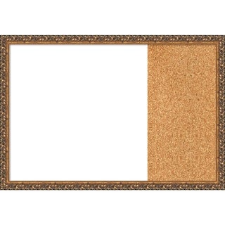 Antique Bronze Wood Framed White Dry Erase/Cork Combo Board