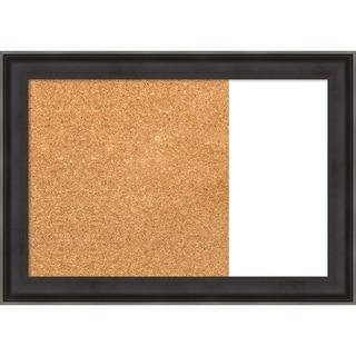 Allure Charcoal Wood Framed Cork/White Dry Erase Combo Board