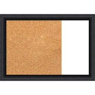 Nero Black Wood Framed Cork/White Dry Erase Combo Board