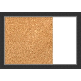 Corvino Narrow Black Wood Framed Cork/White Dry Erase Combo Board