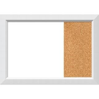 Blanco White Wood Framed White Dry Erase/Cork Combo Board