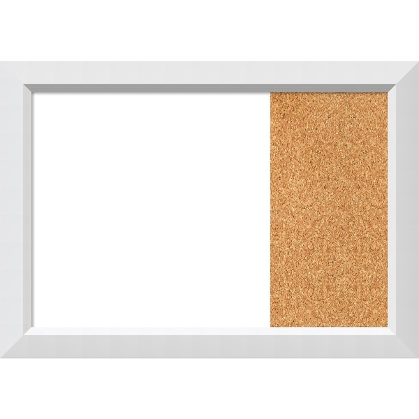 Blanco White Wood Framed White Dry Erase/Cork Combo Board