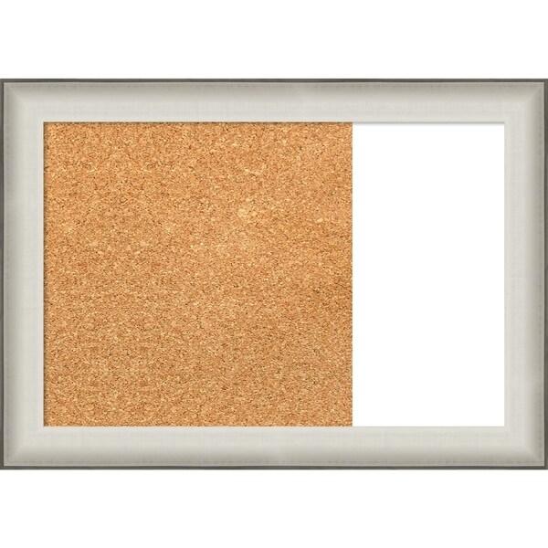 Allure White Wood Framed Cork/White Dry Erase Combo Board