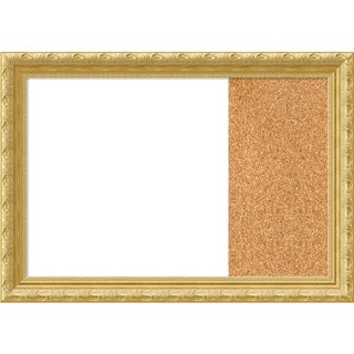 Versailles Gold Wood Framed White Dry Erase/Cork Combo Board