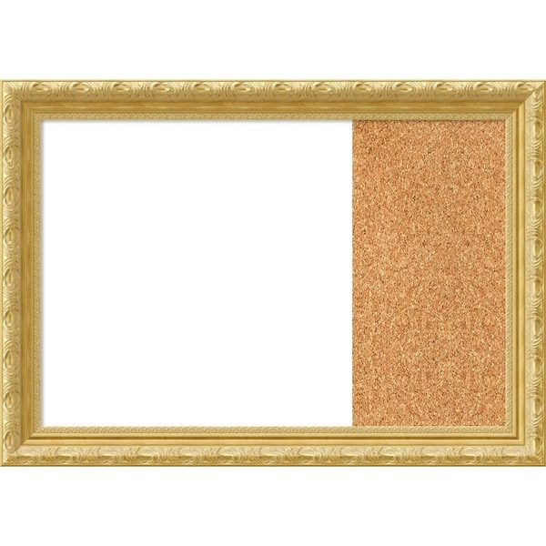 Versailles Gold Wood Framed White Dry Erase/Cork Combo Board