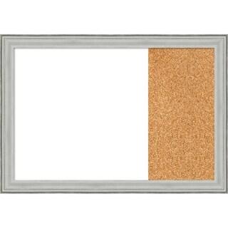 Bel Volto Silver Wood Framed White Dry Erase/Cork Combo Board