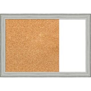 Bel Volto Silver Wood Framed Cork/White Dry Erase Combo Board