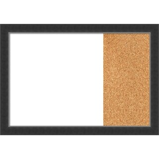 Corvino Narrow Black Wood Framed White Dry Erase/Cork Combo Board