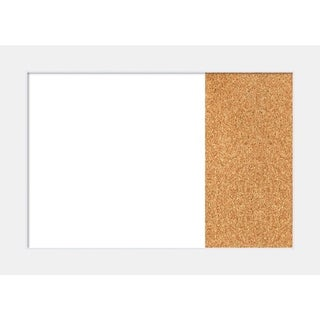 Corvino White Wood Framed White Dry Erase/Cork Combo Board