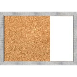 Sonoma White Wash Wood Framed Cork/White Dry Erase Combo Board