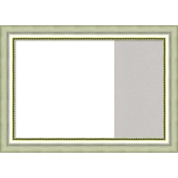 Vegas Silver Wood Framed White Dry Erase/Cork Combo Board