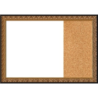 Rococo Gold Wood Framed White Dry Erase/Cork Combo Board