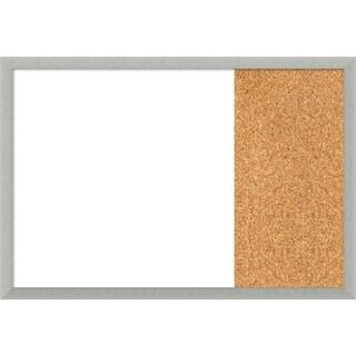 Silver Leaf Wood Framed White Dry Erase/Cork Combo Board