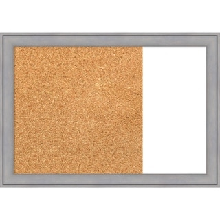 Graywash Wood Framed Cork/White Dry Erase Combo Board
