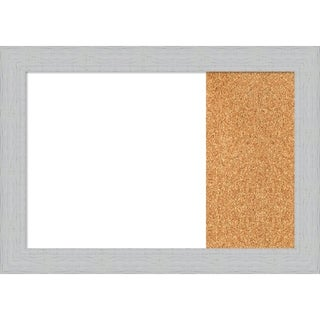 Shiplap White Wood Framed White Dry Erase/Cork Combo Board