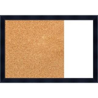 Madison Black Wood Framed Cork/White Dry Erase Combo Board