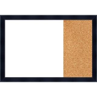 Madison Black Wood Framed White Dry Erase/Cork Combo Board