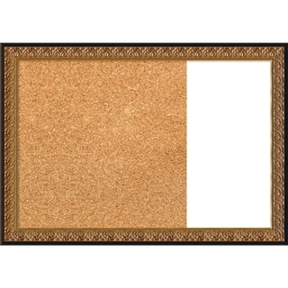 Rococo Gold Wood Framed Cork/White Dry Erase Combo Board