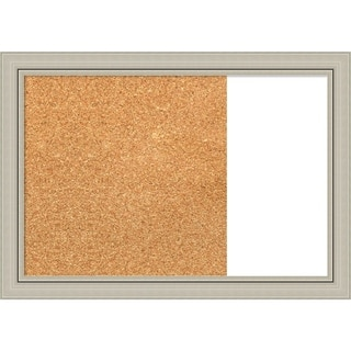 Romano Silver Narrow Wood Framed Cork/White Dry Erase Combo Board