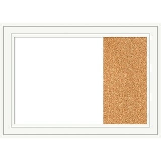 Craftsman White Wood Framed White Dry Erase/Cork Combo Board
