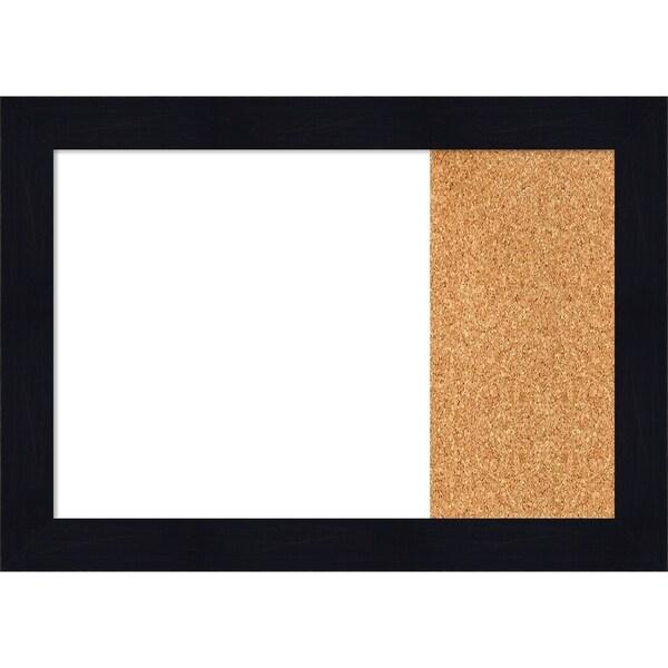 Shiplap Navy Wood Framed White Dry Erase/Cork Combo Board