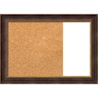 Veneto Distressed Black Wood Framed Cork/White Dry Erase Combo Board