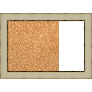 Rusted Cream Wood Framed Cork/White Dry Erase Combo Board