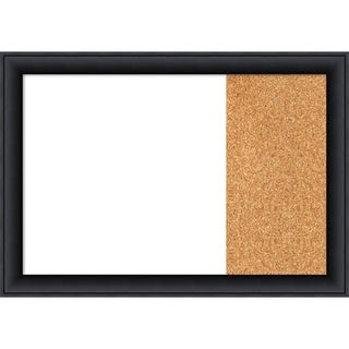 Nero Black Wood Framed White Dry Erase/Cork Combo Board