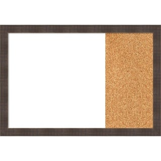 Whiskey Brown Rustic Wood Framed White Dry Erase/Cork Combo Board