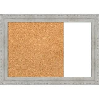 Rustic White Wash  Wood Framed Cork/White Dry Erase Combo Board