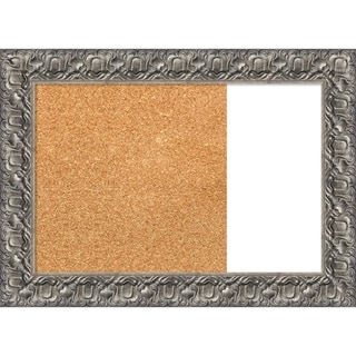 Silver Luxor Wood Framed Cork/White Dry Erase Combo Board