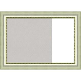 Vegas Silver Wood Framed Cork/White Dry Erase Combo Board