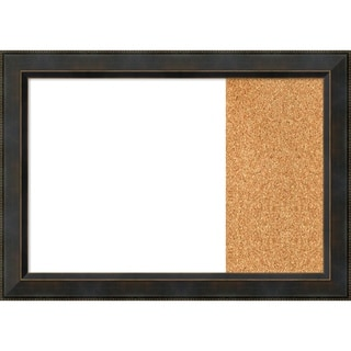 Signore Bronze Wood Framed White Dry Erase/Cork Combo Board