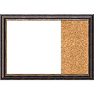 Tuscan Rustic Wood Framed White Dry Erase/Cork Combo Board