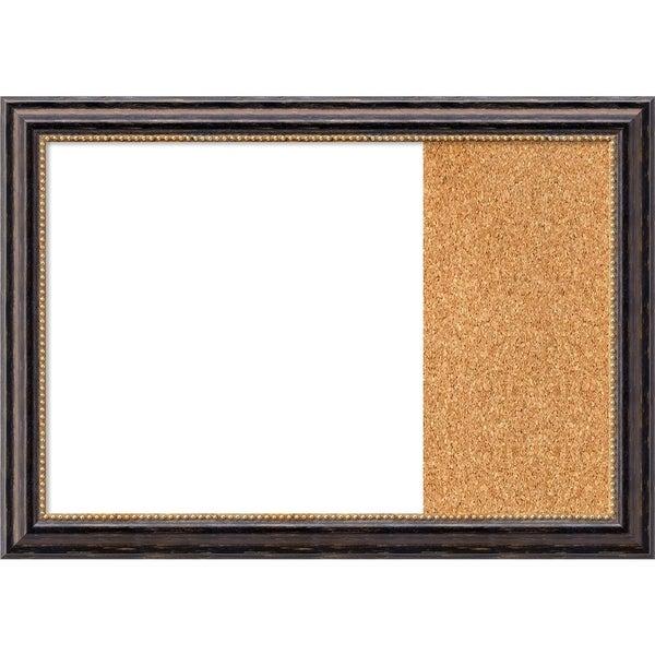 Tuscan Rustic Wood Framed White Dry Erase/Cork Combo Board